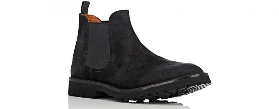 buttero oiled suede chelsea boots