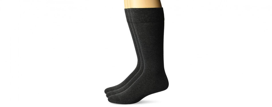 buttoned down men's pima cotton dress socks