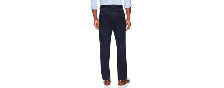 buttoned down relaxed fit flat front chinos