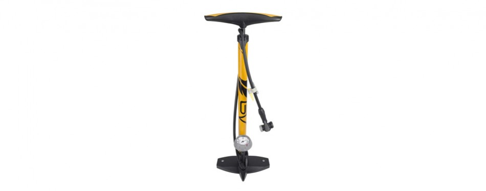 bv bicycle ergonomic bike floor pump