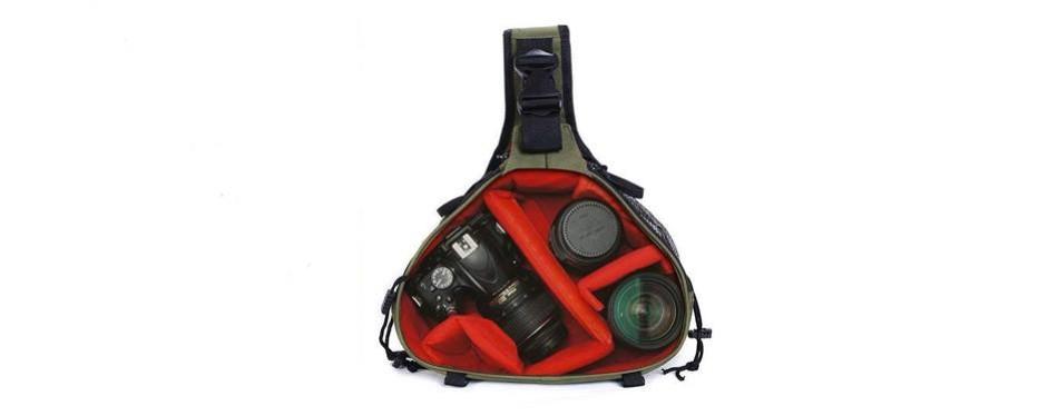 caden dslr camera sling bag