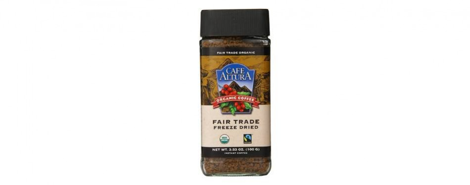 café altura fair trade organic freeze dried instant coffee