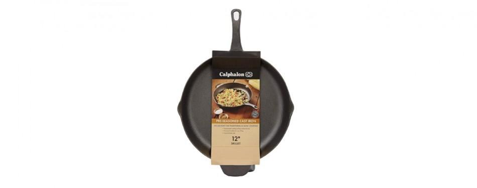 calphalon pre-seasoned cast iron cookware, skillet