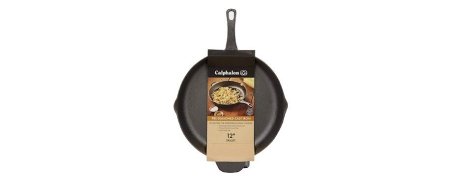 calphalon pre-seasoned cast iron cookware, skillet