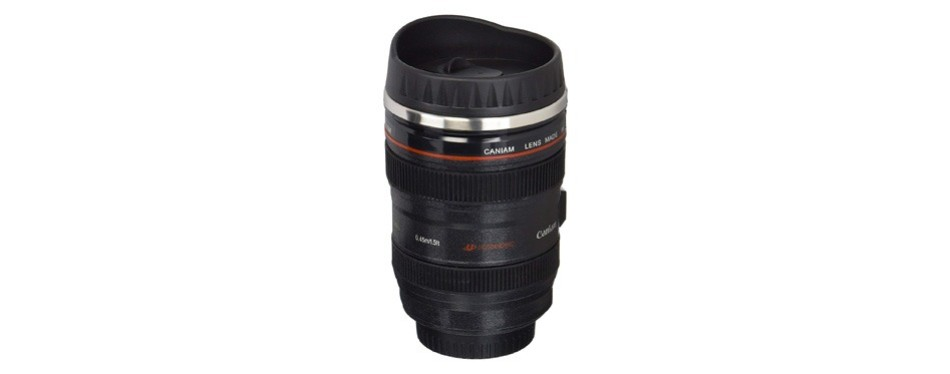 camera lens travel thermos