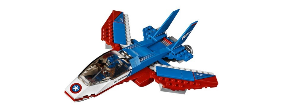 lego marvel super heroes captain america jet pursuit building kit