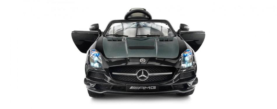 carbon black sls amg mercedes benz car for kids