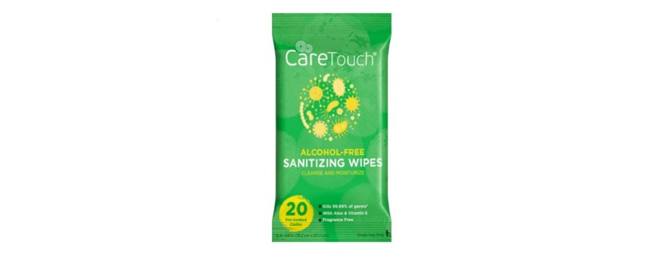 care touch alcohol free hand sanitizer wipes