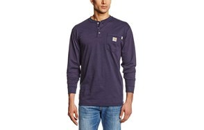 carhartt flame resistant force cotton long sleeve henley