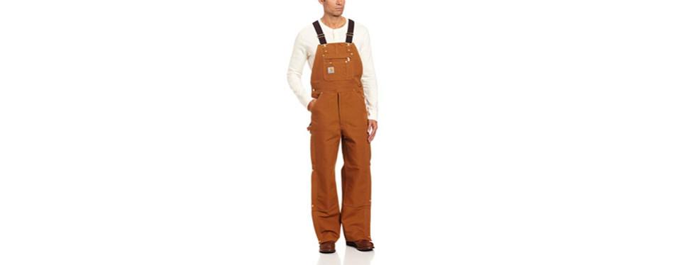carhartt men's zip to thigh bib overall