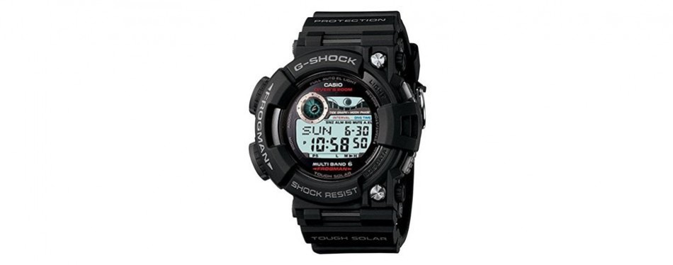 casio g-shock frogman solar quartz watch