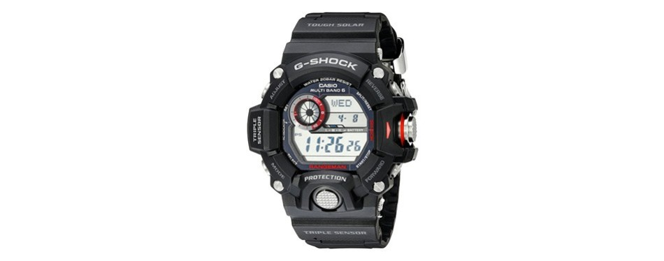 casio master of g stainless steel watch