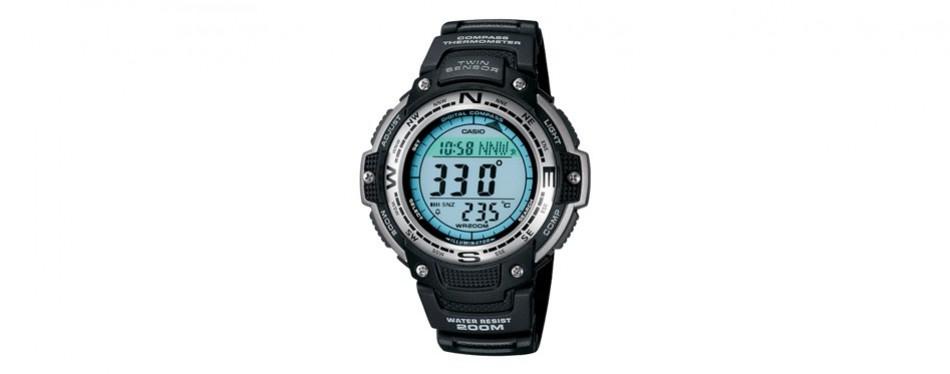 casio men's sgw100 twin sensor compass watch