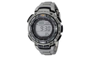 casio men's triple-sensor stainless steel watch