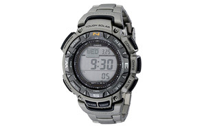 casio men's triple-sensor stainless steel watch