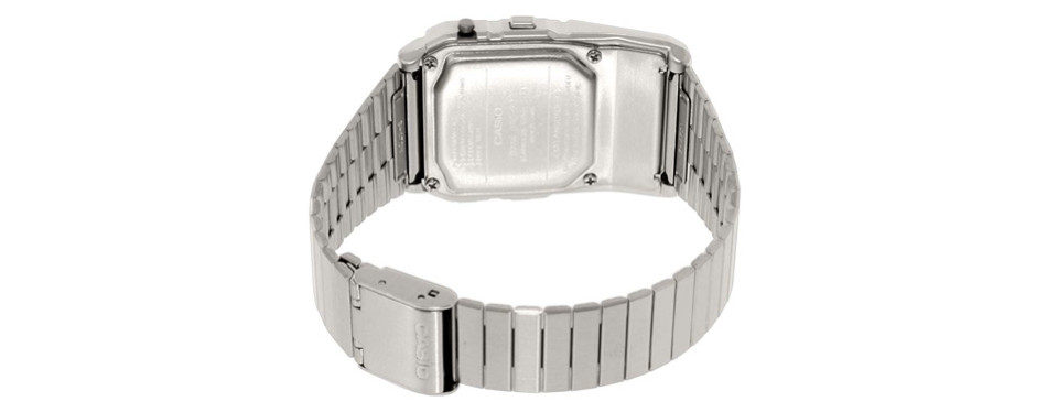 casio men's silver tone databank watch