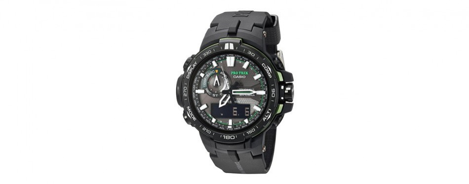 casio pro trek black analog