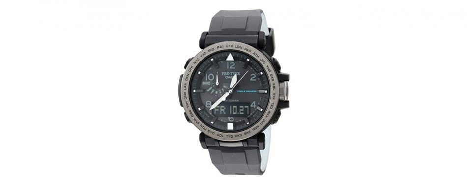 casio pro trek silicone watch