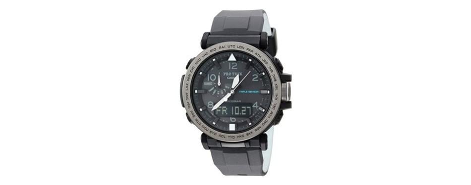 casio pro trek silicone watch