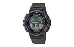 casio wr100m men's fishing timer quartz watch