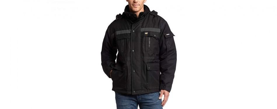 caterpillar men's heavy insulated winter jacket- black