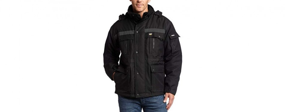 caterpillar men's heavy insulated winter jacket- xx-large