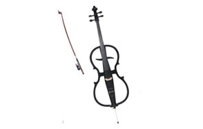 cecilio 4/4 ceco-1bk black metallic electric cello