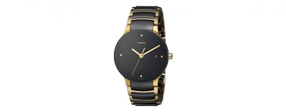 centrix jubile gold-plated stainless steel watch