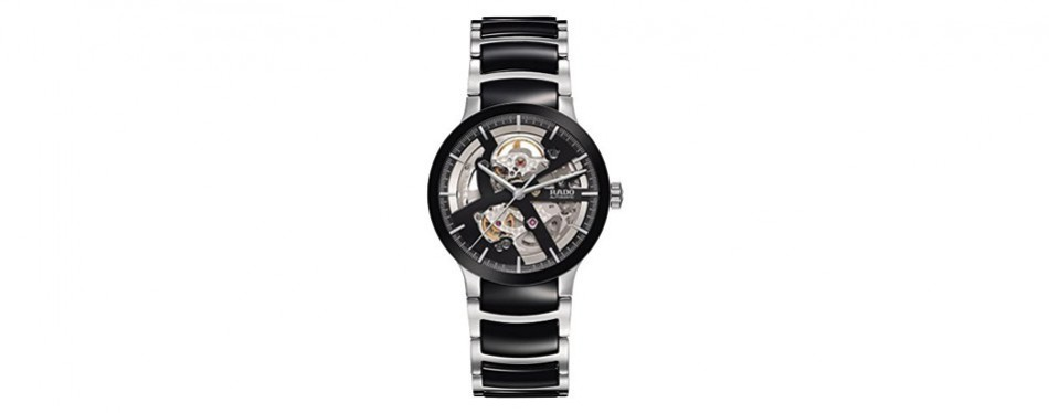 centrix steel and ceramic automatic watch