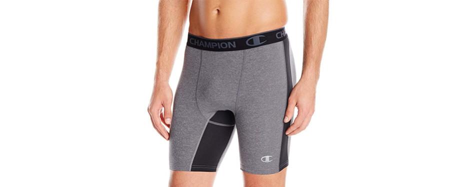 champion men's powerflex compression short