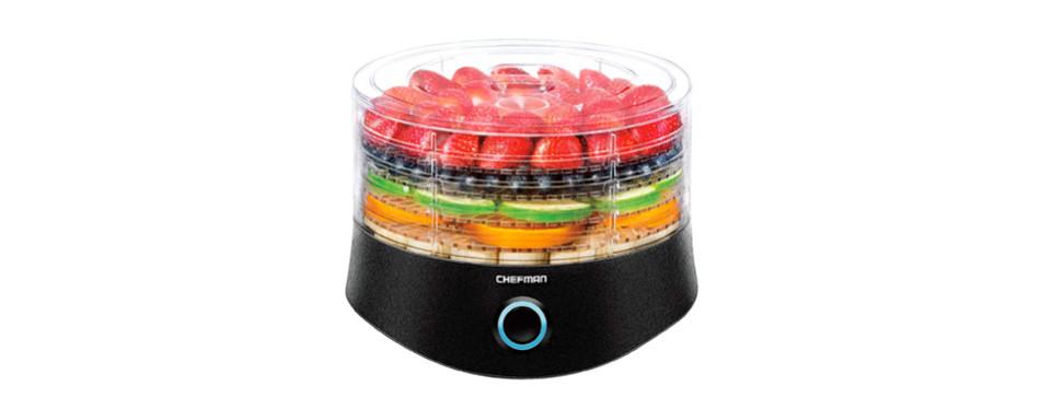 chefman 5 tray round food dehydrator