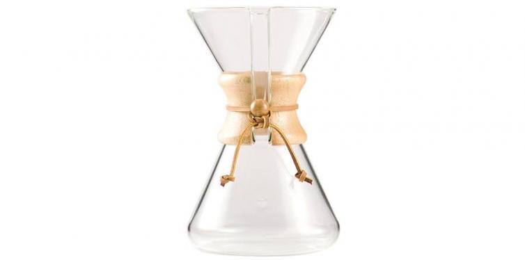 chemex hand blown glass coffee maker