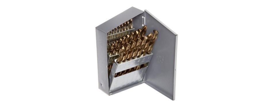 chicago latrobe 550 series cobalt steel jobber length drill bit set