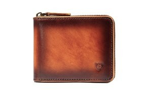 donword rfid leather zipper wallet for men