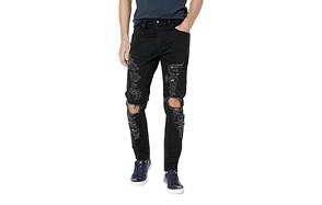 levi's 512 slim fit distressed jeans for men