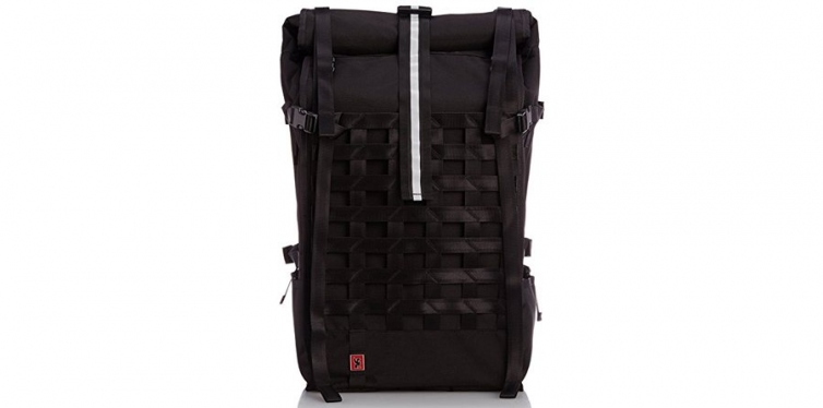 chrome bg-180-bkrd-000 black one size pro barrage waterproof roll top backpack