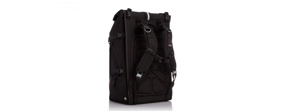 chrome bg-180-bkrd-000 black one size pro barrage waterproof roll top backpack