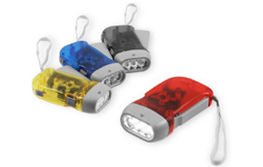 chromo inc four pack of hand crank flashlights