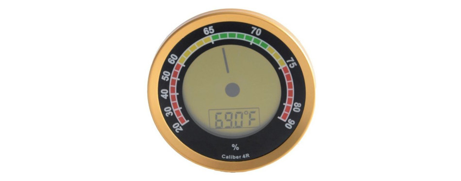 cigar oasis caliber 4r gold digital hygrometer
