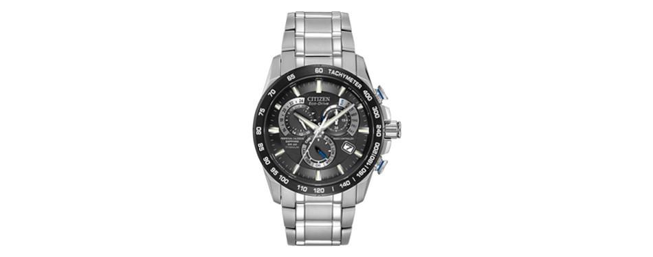 citizen eco-drive perpetual chrono atomic timekeeping watch