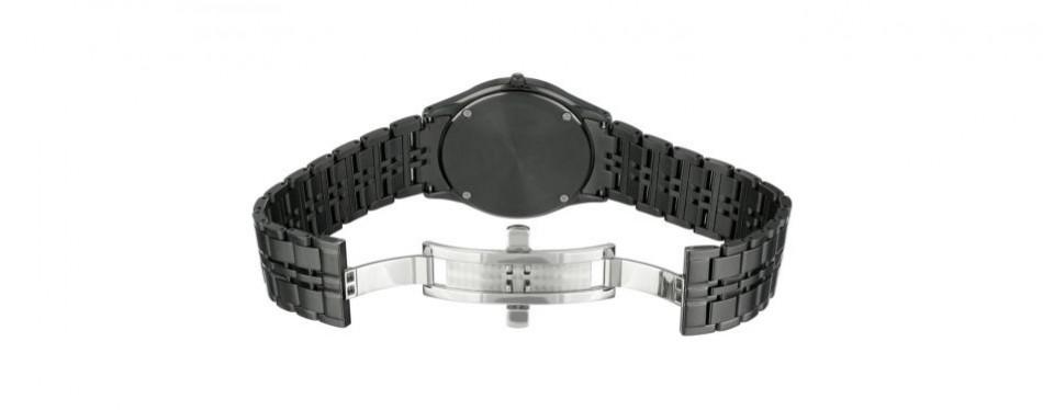citizen men's 53e eco-drive stiletto black dress watch