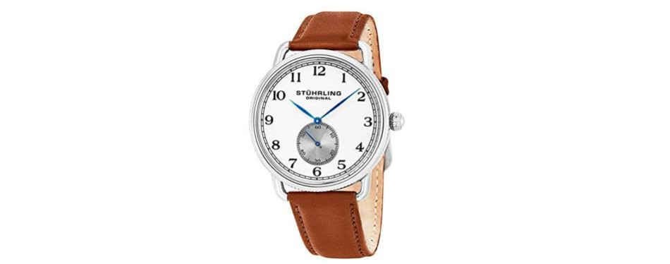 classic curvette wrist stuhrling watch for men