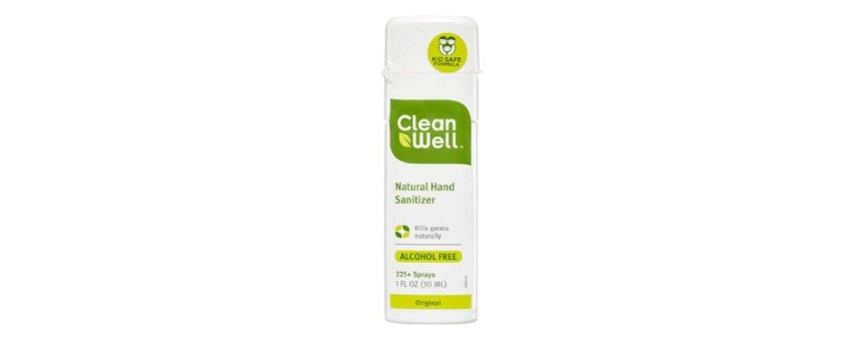 cleanwell natural hand sanitizer spray
