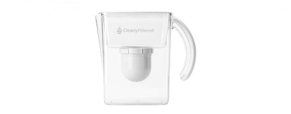 clearly filtered water pitcher with lifetime warranty