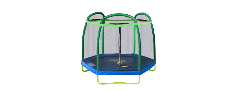 clevr 7ft kids trampoline and safety enclosure net