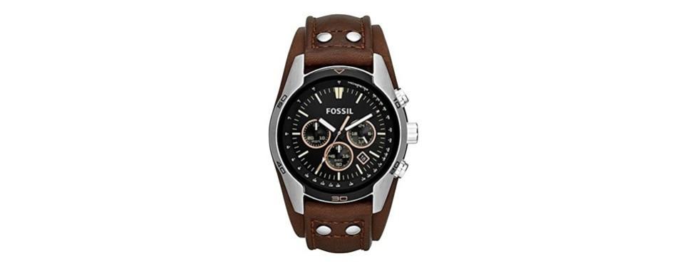 coachman quartz stainless steel watch