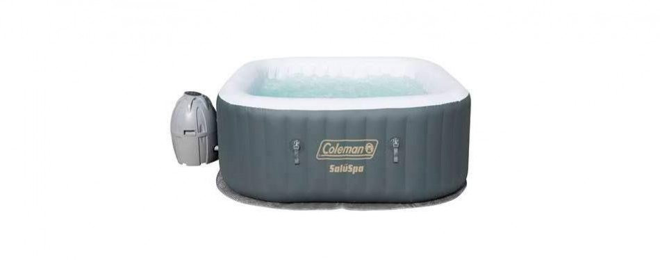 coleman saluspa inflatable airjet hot tub