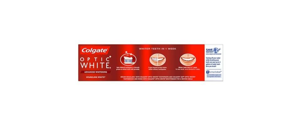 colgate optic white whitening toothpaste