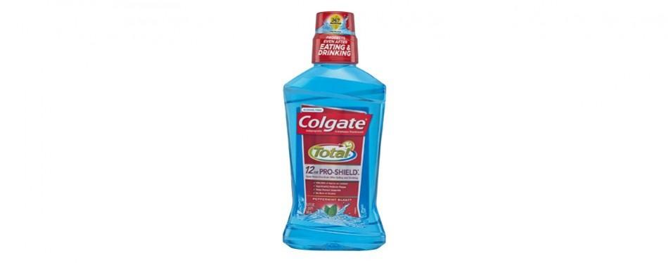 colgate total pro-shield mouthwash, peppermint