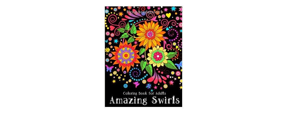 coloring book for adults: amazing swirls
